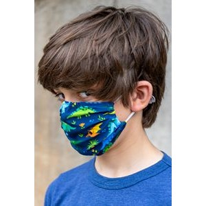 Standard Kids Single-ply Custom Print Face Mask - 6oz Elastic Stretch Polyester