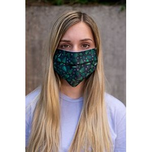 Soft Knit 2-ply Custom Printed Face Mask - 9oz Soft Knit Polyester