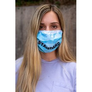Standard Single-ply Custom Print Face Mask - 6oz Elastic Stretch Polyester